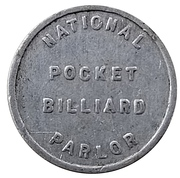 5 Cent - National Pocket Billiard Parlor – obverse
