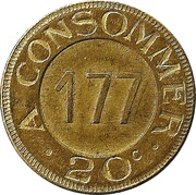 20 Centimes - A consommer (177; N.P.S.C.) – reverse