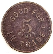 5 Cents - Bowling Park Club – reverse