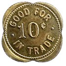 10 Cents - Heber Mercantile Company – reverse