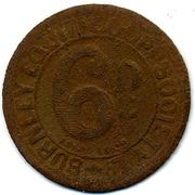 6 Pence - Burnley Equit. CSL (Lancashire) – obverse