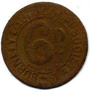 6 Pence - Burnley Equit. CSL (Lancashire) – reverse