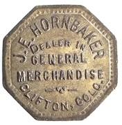 1 Cent - J. E. Hornbaker (Clifton, Colorado) – obverse