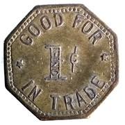 1 Cent - J. E. Hornbaker (Clifton, Colorado) – reverse