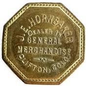 25 Cents - J. E. Hornbaker (Clifton, Colorado) – obverse