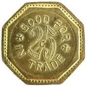 25 Cents - J. E. Hornbaker (Clifton, Colorado) – reverse
