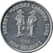 Token - New Orleans Merry Makers – obverse