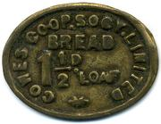 1 ½ Penny Bread Loaf - Cowes CSL (Isle of Wight) – obverse