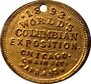 Token - Cleveland in Chicago 1893 – reverse