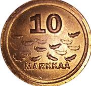 10 Markkaa - Paavo Väyrynen – reverse