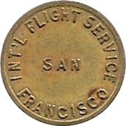 25 Cents - San Francisco Int'l Flight Service – obverse