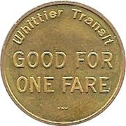1 Fare - Whittier Transit (Whittier, California) – reverse