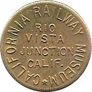 1 Fare - California Railway Museum (Rio Vista Junction, California) – obverse
