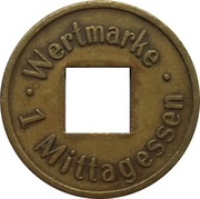 1 Wertmarke - Studentenwerk (München) – reverse