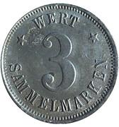 3 Sammelmarken (Schwenningen A.N.; Private, Büdowerk) – reverse