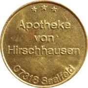 Pharmacy Token - Apotheke von Hirschhausen (Saalfeld) – obverse