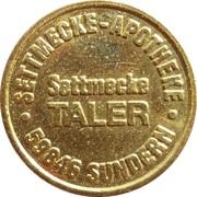 Settmecke Taler - Settmecke Apotheke (Sundern) – obverse