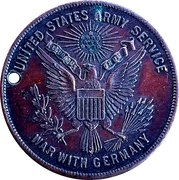 Service Record Token - War with Germany – obverse