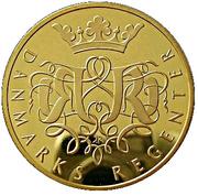 Medal -  Danmarks Regenter (King Christian VII) – reverse