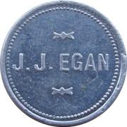 5 Cents - J. J. Egan (Milwaukee, Wisconsin) – obverse