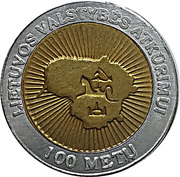 Token - Centennial of the Restored State of Lithuania – obverse