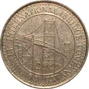 Token - Cornwall-Massena International Bridge – obverse
