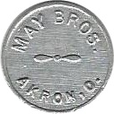 1 Cent - May Bros. – obverse