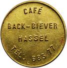 Token - Café Back-Biever (Hassel) – obverse
