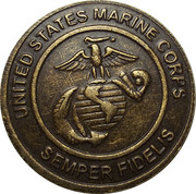 Token - United States Marine Corps (Toys For Tots) – reverse