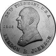 Token - Lyndon Johnson – obverse