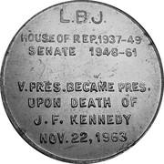 Token - Lyndon Johnson – reverse