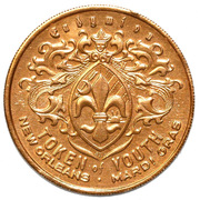 Mardi Gras Token of Youth - Endymion (New Orleans) – reverse