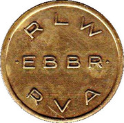 Token - Brussels International Airport – reverse