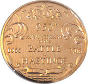 Medal - Battle of Hastings 950th Commemorative – reverse