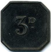 3 Pence - Darlington C & Ind CS (Durham) – reverse