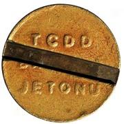 Suburban Train Token - TCDD Banliyö Jetonu – reverse