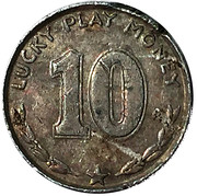 10 Cents - Lucky Play Money (Woodrow Wilson) – reverse