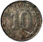 10 Cents - Lucky Play Money (Woodrow Wilson) – reverse