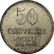 50 Centimes - Minières de la Côte Rouge – reverse