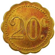 20 Centimes - Brasserie Majestic (Nancy) – reverse