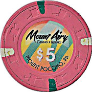 5 Dollars - Mount Airy Casino Resort (Mount Pocono, Pennsylvania) – obverse