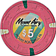 5 Dollars - Mount Airy Casino Resort (Mount Pocono, Pennsylvania) – reverse