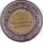 1 Dollar - Woody's Car Wash (Totem Lake, Washington) – reverse