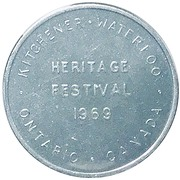 Token - Heritage Festival (Kitchener, Waterloo) – obverse
