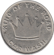 Car Wash Token - King of The Road – obverse