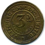 3 Pence - Kettering CSL (Northamptonshire) – reverse