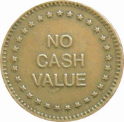 """Token - No Cash Value (Eagle looking left; """"Freedom""""; Brass; 23 mm) – reverse"""