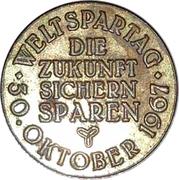 Token - Sparkasse Weltspartag 1967 (Hannover) – reverse