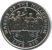 Token - Makers of the Millennium (Live Aid) – obverse