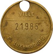 Dog Token (Luxembourg) – obverse
